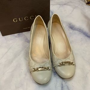 GUCCI guccissima leather kitten heels